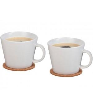 Набор чашек с костерами «Hartley», белый
